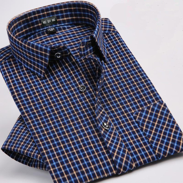 summer Cotton high quality new arrival fashion male Plaid formal casual men's shirt short sleeve super large plus size M-9XL F62