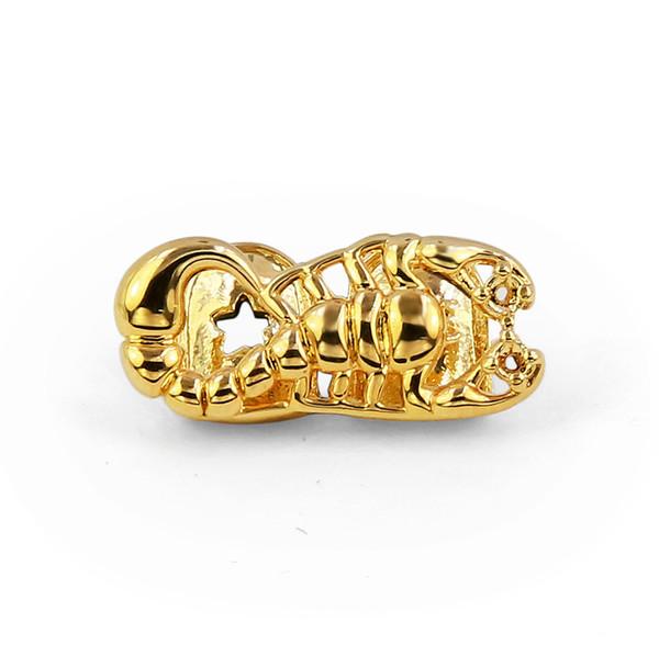 Scorpion Single Golden Teeth Halloween Teeth Grills Rapper Hip Hop Accessories Gift Hot