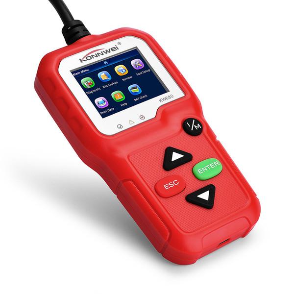 top popular KW680 OBDII OBD Scanner Code Reader Car Diagnostic Scanner Engine Fault Code Reader Detector Multi Language Automotive 2019