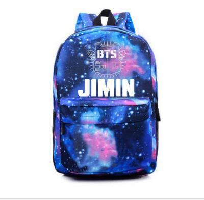 Ombro simples KPOP BTS Bangtan Boys SUGA JIN V School Girl Backpack Schoolbag Travel Bag