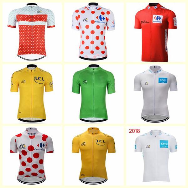 2019 TOUR DE FRANSA bisiklet forması pro team Erkek kısa kollu gömlek çabuk kuru bisiklet giyim mtb bisiklet maillot ropa ciclismo C0140