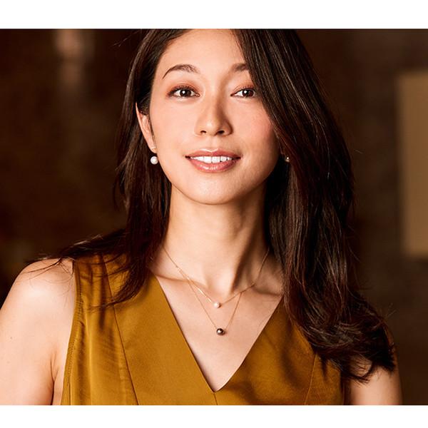 100% real 18 k oro colgante con Tahiti Akoya perla, redondo negro perla colgante collar aniversario regalo Y19052301