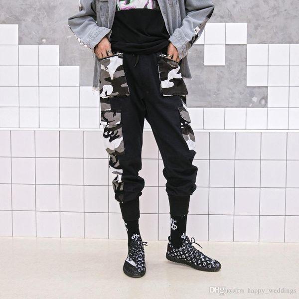 pantalons pour hommes de style militaire Pantalons simple camouflage Joggers Punk Sweatpants Pantalon cargo d'hiver Streetwear