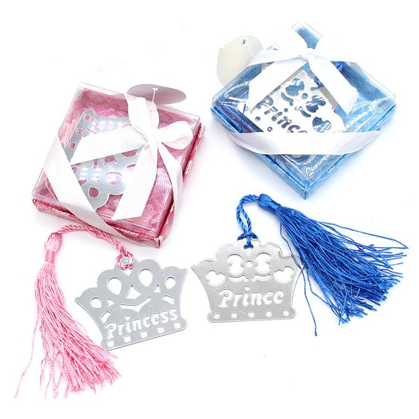 Baby Shower Favors Lovely Crown Lesezeichen Hochzeitsgeschenke für Gäste Baby Geburt Party Taufe Gefälligkeiten und Geschenken