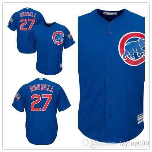 more photos 50f15 b702f 2019 Custom 2019 Men'S Cubs 27 Addison Russell Chicago Royal 2016 World  Series Bound Alternate Cool Base Player Women Kids Jersey From Newlife008,  ...
