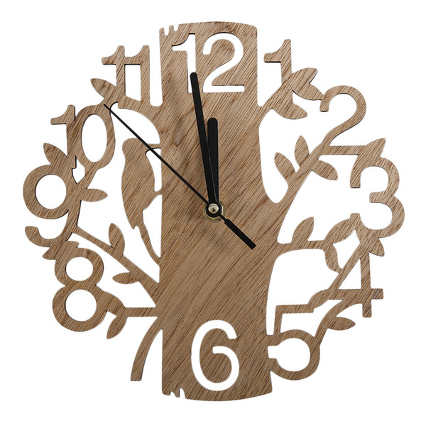 Großhandel Moderne Holz Vintage Design Wanduhr Mode Home Wohnzimmer Café  Chic Bar Persönlichkeit Ruhig Uhr Quadrat Form P10 Von Margueriter, $32.17  ...