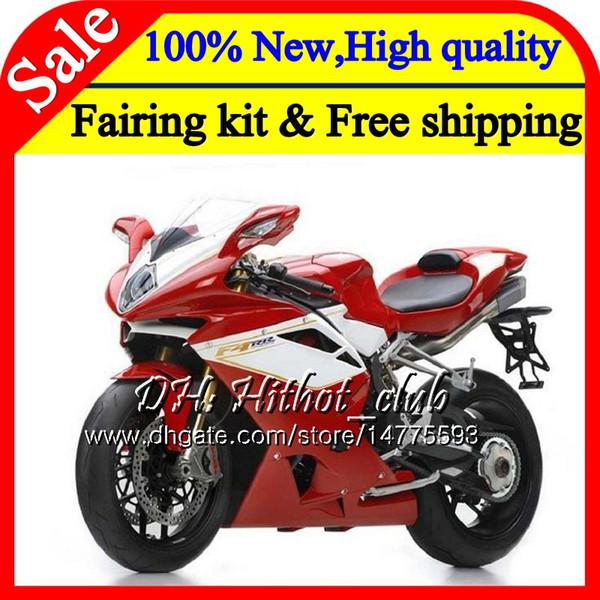 Body For MV Agusta F4 05 06 R312 Red white 750S 1000 R 750 1000CC 13HT4 1000R 312 1078 1+1 MA MV F4 Red 2005 2006 05 06 Fairing Bodywork