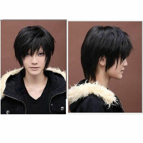 Vogue Short Straight Black Cosplay Wig Natural Hair Wigs Festival Gift for Men