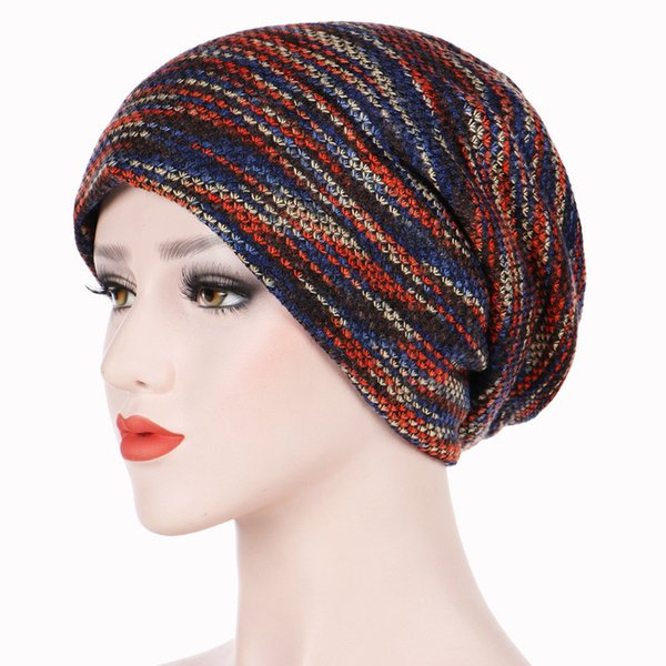 1 PC Hot Selling Colored Woollen Yarn Knitted Hats For Men Women Outdoor Caps Autumn Winter Warm Beanies