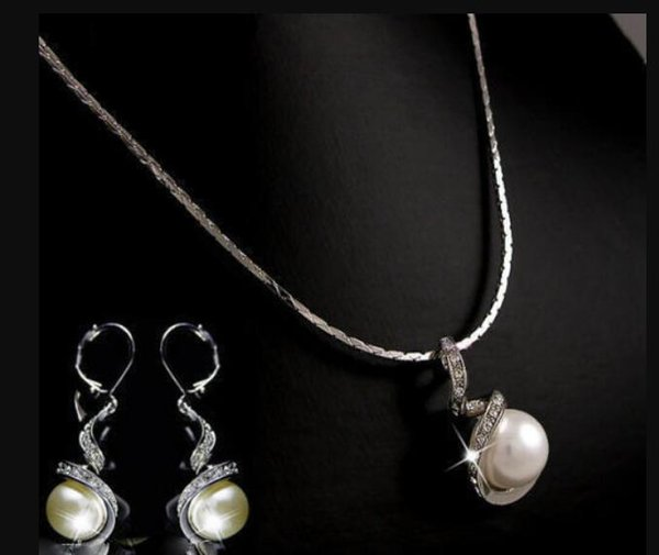 jewelry hot sell new - Sale 10mm &14mm White South Sea Shell Pearl Pendant Necklace Earring Jewelry Set