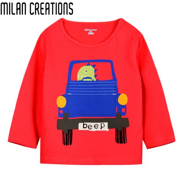 Boys T-shirt Kids Clothes 2016 Brand Fashion Boys Tops Tees Children T shirts Car Print Baby Clothes Boys T shirt Long Sleeve