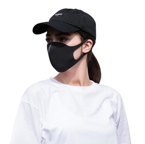 best selling 2020 New In Stock! Anti Dust Face Mouth Cover Mask Respirator Dustproof Anti-bacterial Washable Reusable Ice Silk Cotton Masks Tools