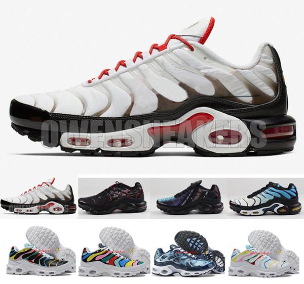 2020 Designer Mens Mercurial TN Além disso SE QS Running Shoes Scarpe Tns Blue Black Grey Chaussures TN Requin Sneakers