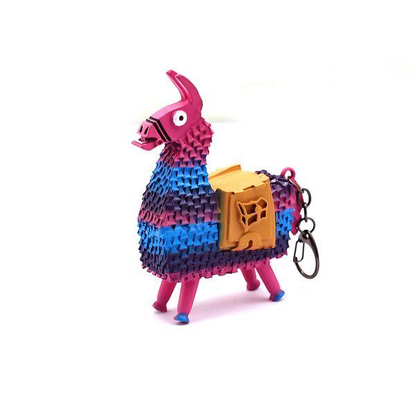 Battle Royale Keychain For Men New Game Multicolor Metal Model Alpaca Keyring Women Bag Key Chain Ring llaveros