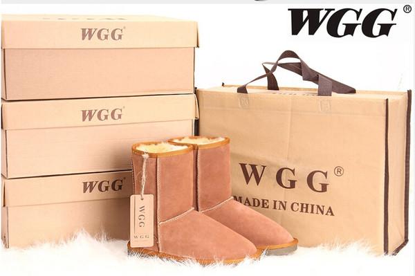 2019 WGG женские классические высокие снежные сапоги женские сапоги ботинки снег зимние сапоги кожаные ботильоны США размер 5 --- 13