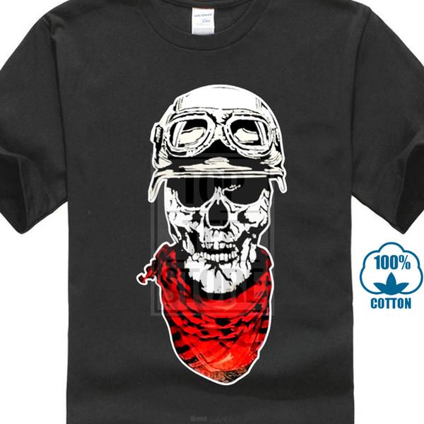 The Latest Style Graphic Skull Helmet Motorcycle Glasses 3d Print Tee Shirt Men's O - Neck Short Sleeve Tops