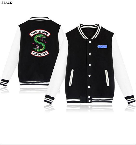 Riverdale Spring Autumn Fashion hip hop streetwear Riverdale SouthSide Mens Baseball Jacket Uniform men outerwear coats 4XL