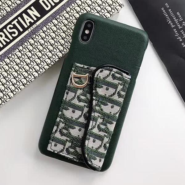 Cas de téléphone de luxe chaud pour Iphone XS XR Xs Max 6 6plus 7 7plus 8 8plus en cuir carte à tricoter Pocket Designer Phone Cover -ZL00418