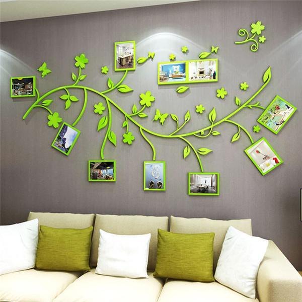3D fai da te Foto Fiori ramo di albero murali Stickers PVC / adesivo familiari adesivi murali murale domestico di arte della camera da letto acrilici Adesivi