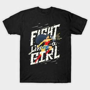 Pelea como una niña Wonder Woman Men 039 s BlaRock T Shirt S 2XL