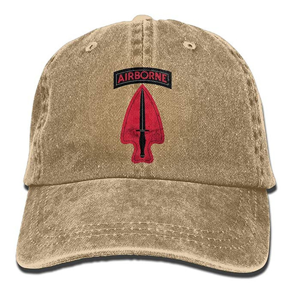 HX 2019 New Designer Baseball Caps Mens Cotton Washed Twill Baseball Cap US Army Retro 1st Special Forces Ent Delta SSI Hat