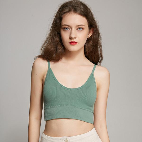 Tube rembourré pour femmes Summer Top Tank Top Thin Wirless Crop Sexy Underwear for Women