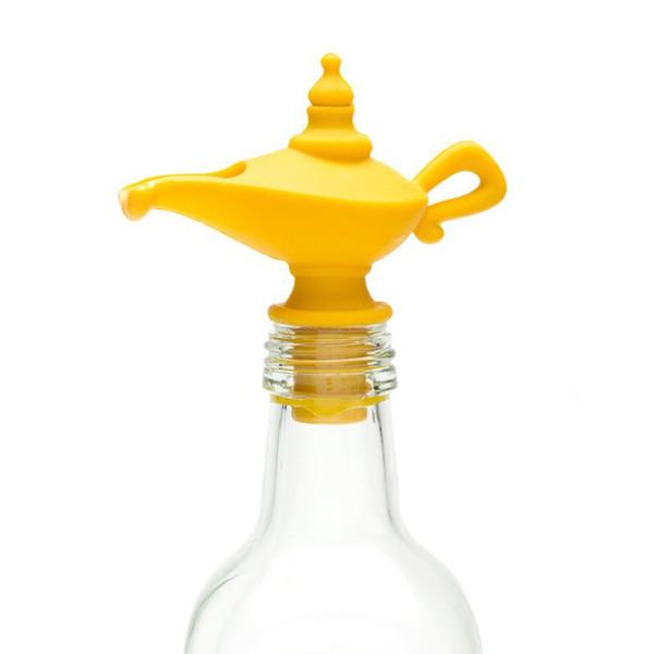 Vertedor de aceite y tapón Verter aceite de silicona Boquilla para aceite de oliva Tapón de botella Tapón Tapón de botella Tapón de botella LJJK1827