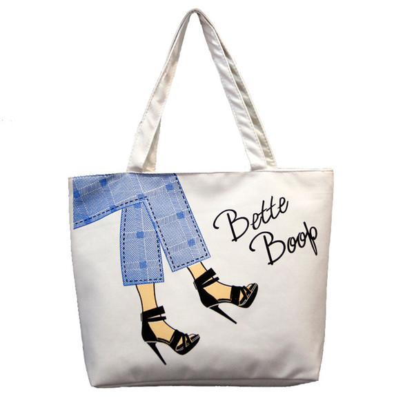 2019 neue koreanische einfache Paket Canvas Bag Handtaschen japanischen literarischen One Shoulder Bags Einkaufstasche Foldaway Reisetasche