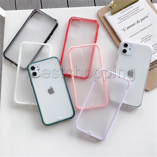 best selling Transparent Soft TPU Hard Clear PC Phone Back Case Shockproof Cover For iPhone 11 Pro Max X Xr Xs Max 8 7 6S 6 Plus