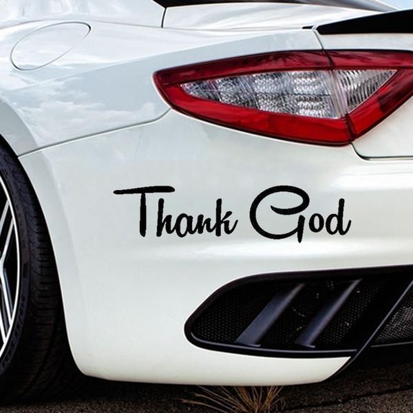 15 * 3.6 cm 2xGrazie Dio Religioso Religioso Chiesa Gesù Accessori per auto Finestra di automobile Adesivi per decalcomanie in vinile
