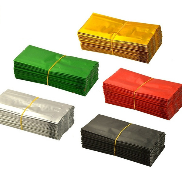 200pcs / lot-10.5 * 5 * 2cm, 12 * 5.5 * 2cm Colori di alluminio Organo Borsa Seal Pollen Tea Storage Tasche alimentari Vacuum Packaging Bag