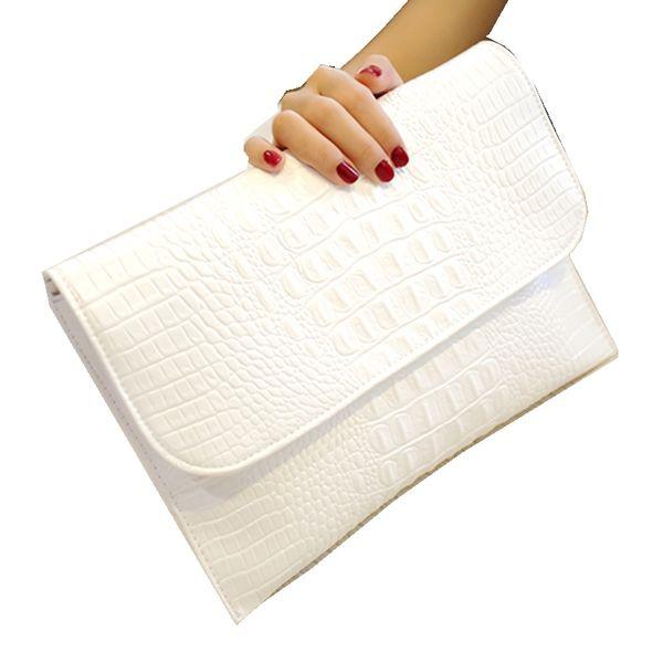 Women Clutches Bags Vintage PU Leather Crocodile Pattern Envelope Purse Shoulder bag Ladies Small Messenger Handbag Female Gift #599684