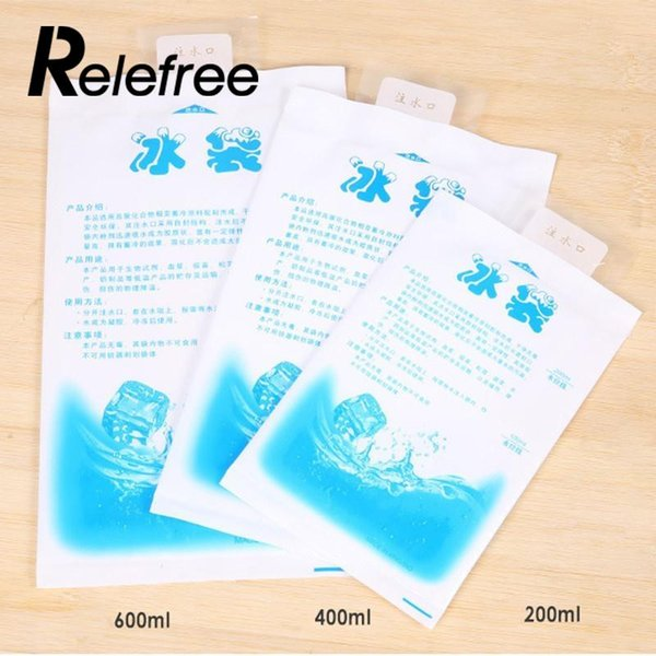 Relefree reusable gel ice pack cubes medical reusable ice gel packs cubes cooler bag picnic bags pack