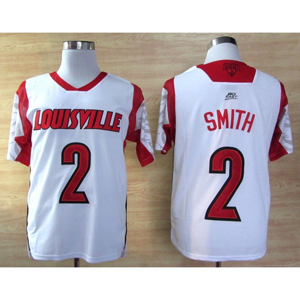 Mens Louisville Cardinals Russ Smith Stitched Name&Number American College Football Jersey Size S-3XL