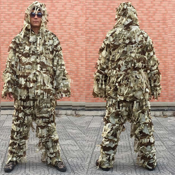 3d leaf army camo yowie ghillie suit sniper tactical hunting suit/hunting tent/hunting blind breathable hunting clothing thumbnail