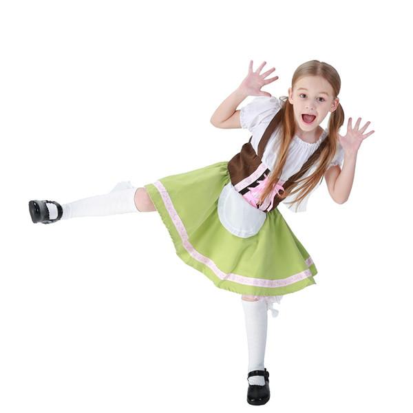 Female Parent-child Oktoberfest Fancy Dress Carnival Hansel Cosplay Clothing Children Bavarian Beer Girl Costume Kid Mardi Gras Costume