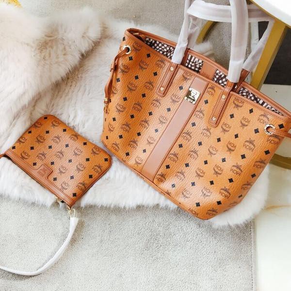 новая мода женщины письмо visetos печатает хозяйственная сумка досуг сумка из двух ч