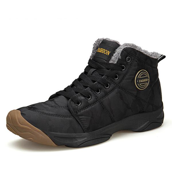 Erkekler su geçirmez Bilek Boots Kış Sıcak Peluş kar botları Erkekler Açık sneaker Çalışma Erkek Kauçuk Kış Erkek