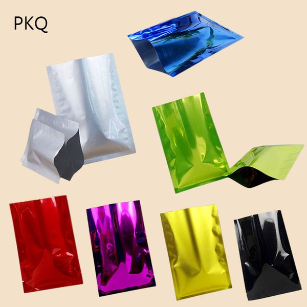 Depolama Düz Çanta 8 Renkler 100pcs için 10 Boyutları Altın / Gümüş Alüminyum Folyo Çanta Kılıfı Küçük / Büyük Mylar Çanta Vakum Torbaları