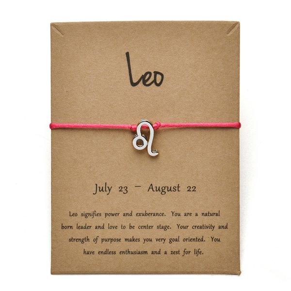 rosa roja SILV Leo-Gold tarjeta