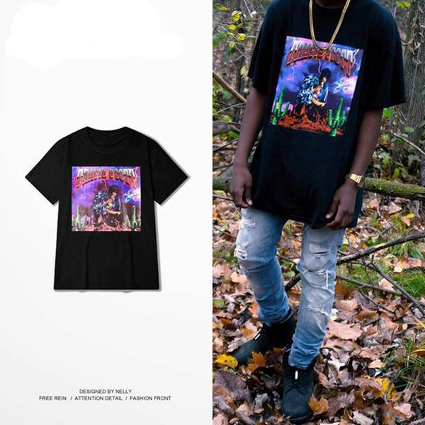 Men Hip hop loose short sleeve Rihanna t-shirt Round neck cotton half sleeve Casual wear new style wholesale