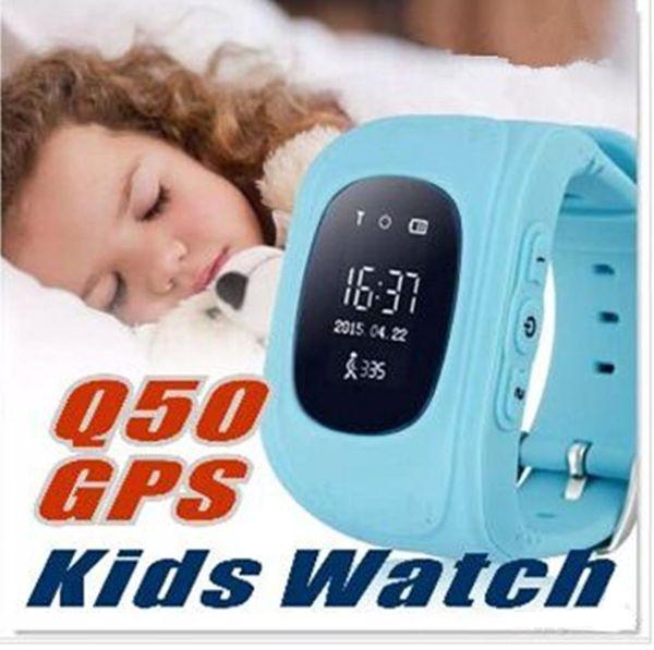 Q50 crianças rastreador gps crianças smart watch phone sim quad band gsm seguro sos chamada pk q80 q90 smartwatch para android ios