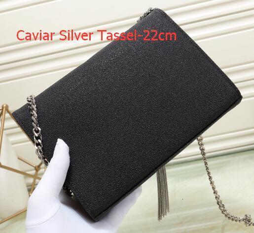 Como Pic 13 Caviar prata Tassel-22 centímetros