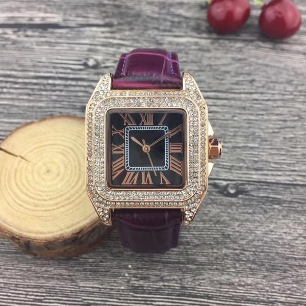 2019 Yeni Model Moda Lüks Kadın İzle Elmas gül altın Ile Özel Tasarım Relojes De Marca Mujer Bayan Elbise İzle Kuvars damla nakliye