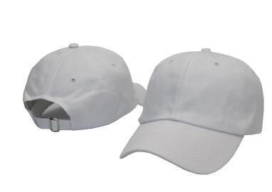 2019 Fashion Blank 6 Panel Plain ohne Logo Hysteresenhüte Hip-Hop Einstellbare Knochen Baseballmütze Casquette Ball Caps Papa Hut Freies Verschiffen