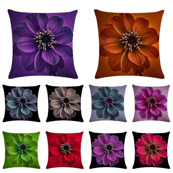 Wondrous 45Cm 45Cm Pure Color Petal With A Bottom Color Linen Cotton Throw Pillow Covers Couch Cushion Cover Home Decorative Pillowsa005 Cushions For Outside Forskolin Free Trial Chair Design Images Forskolin Free Trialorg
