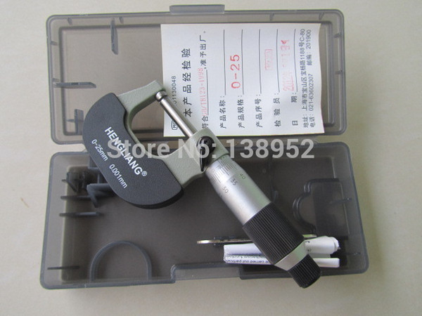 top popular Freeshipping Micron Outside micrometer 0-25mm * 0.001mm calibration micrometer 0.001mm measuring tools High quality 2020