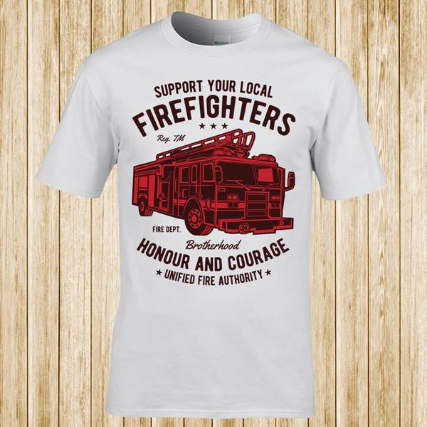 Пожарные грузовик T-shirtFunny бесплатная доставка мужская повседневная футболка топ