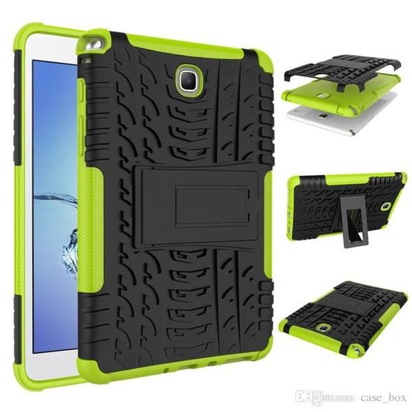 Dazzle Hybrid Kickstand TPU + PC Cubierta de la caja de la tableta de Armor Rugged para Samsung Galaxy Tab S4 T830 10.5 T595 con Kickstand
