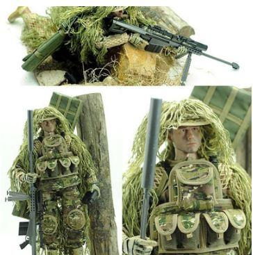 """1/6 Scale Army Military Flexible scale Desert/Jungle Sniper Soldier action figures doll Set ABS Wargame Model Fit 12"""" HOT Toys Free Shipping"""